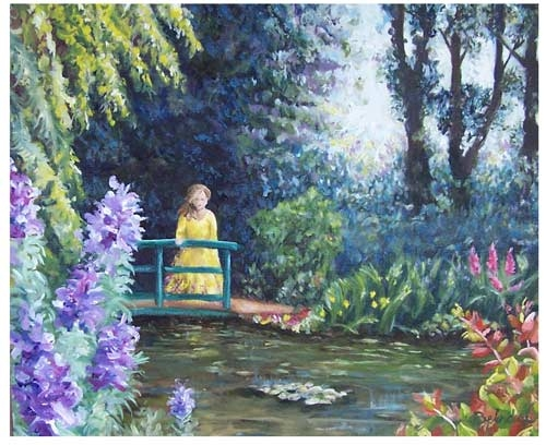 Monets Garden - Artist Belinda Lindhardt- Art, Prints & Cards for Sale