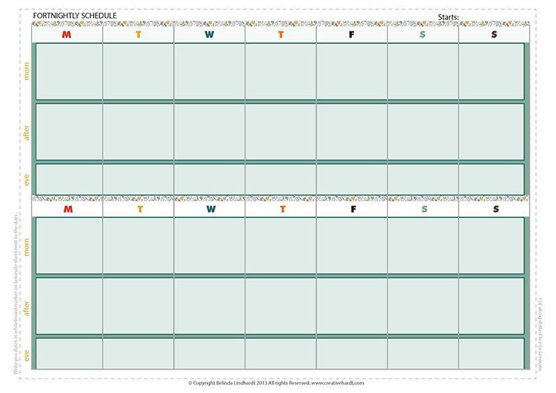Printable Fortnightly & Weekly Planner - To keep on track ...