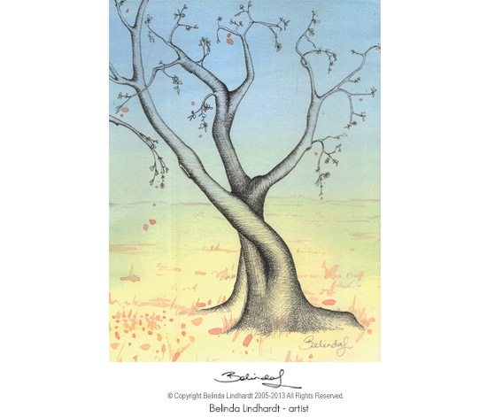 Twisty Tree 3 - Artist Belinda Lindhardt- Art, Prints & Cards for Sale