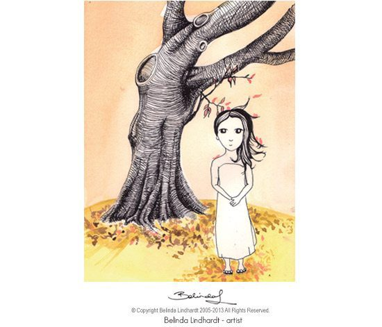 Tree Girl - Artist Belinda Lindhardt- Art, Prints & Cards for Sale