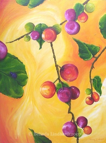 Berries - Contemporary Artworks for sale by Central Coast NSW Artist - Belinda Lindhardt