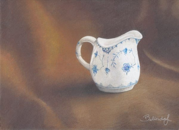 Farmors Milk Jug - Coloured Pencil Artwork by Australian Artist Belinda Lindhardt