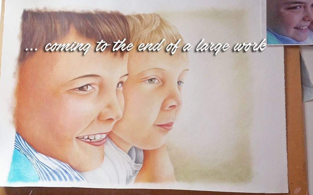 Finishing the work – coloured pencil artworks