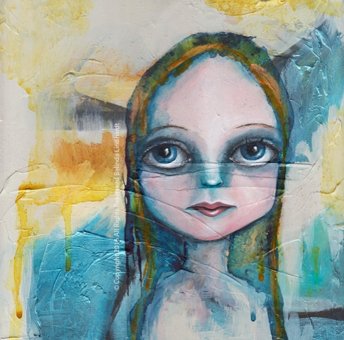 Wednesday - Contemporary Paintings by Artist Belinda Lindhardt- Art, Prints & Cards for Sale