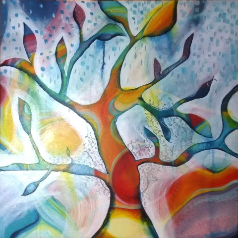 Tree of Life  - Contemporary Paintings by Artist Belinda Lindhardt- Art, Prints & Cards for Sale