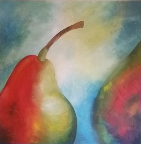 Figurative Pears - Contemporary Painting - Belinda Lindhardt