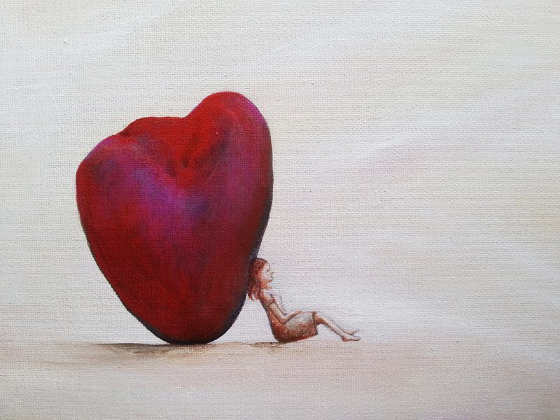 Rocking Heart - Central Coast NSW Artist Belinda Lindhardt- Prints & Cards for Sale