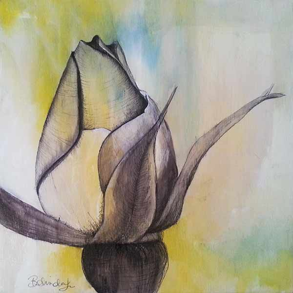 Everlasting Rose - Mixed Media Artist - Belinda Lindhardt