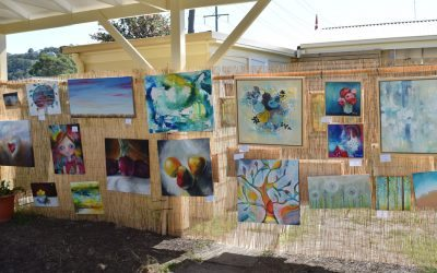 A view into my open studio day!