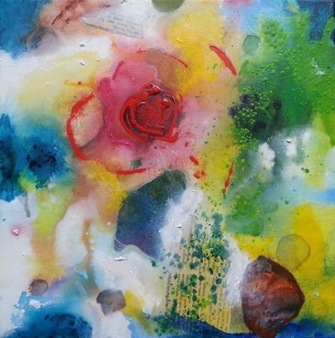 Pools of the Heart - Mixed Media Artist - Belinda Lindhardt