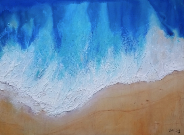Waters Wave -  Contemporary Artworks for sale by Central Coast NSW Artist - Belinda Lindhardt