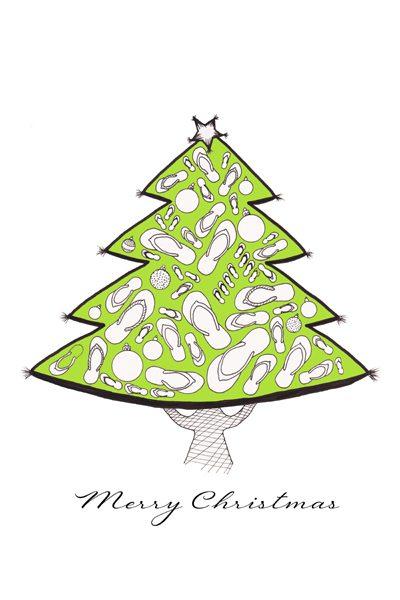 Australian Christmas Illustration - Central Coast NSW - Belinda Lindhardt