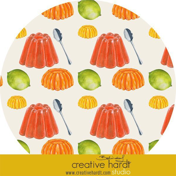 Jellies food illustrations for Mats works in progress #artlicensing