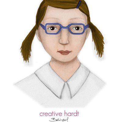 Girl Character Illustration - creativehardt studio