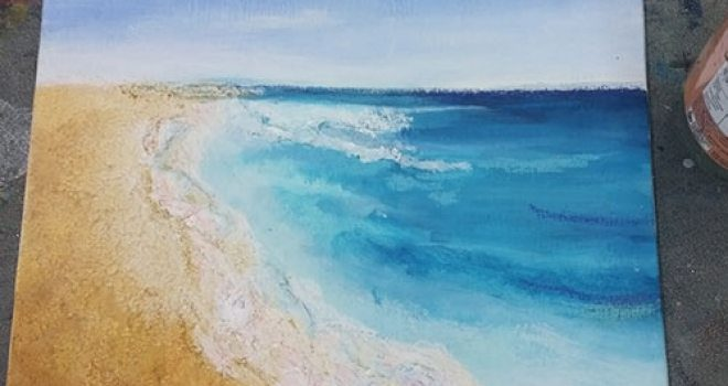 Wamberal beach – Mixed Media Class