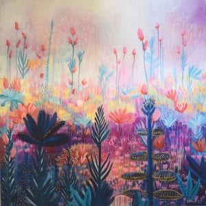 Original Art for Sale - Magical Meadows, Mixed Media on Canvas