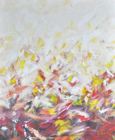 Autumn Leaves Abstract Artwork by Sydney Artist Belinda Lindhardt