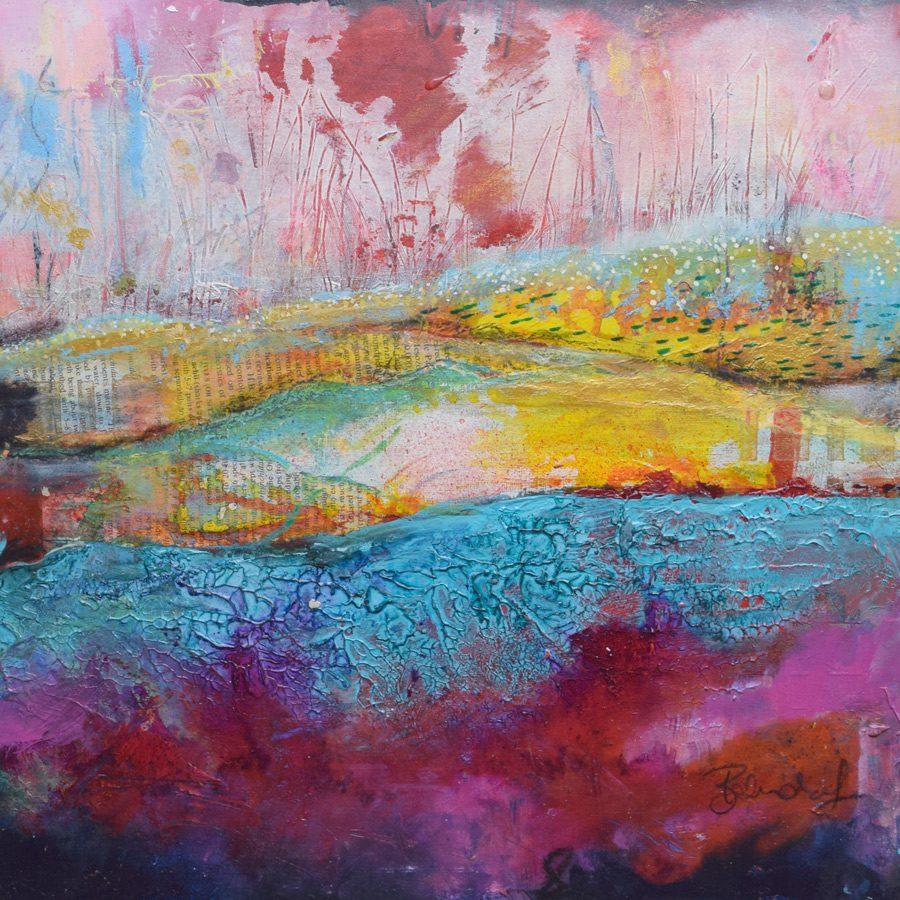 Abstract Landscape - Original Painting by Artist Belinda Lindhardt