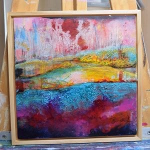 Abstract Landscape - Original Painting by Artist Belinda Lindhardt
