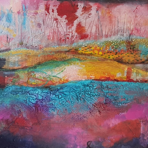 Abstract Landscape by Belinda Lindhardt Artist