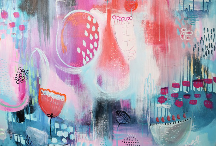 Cheery Abstraction - Original Abstract Artwork
