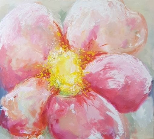 Blossom - Contemporary Floral Painting by Artist Belinda Lindhardt