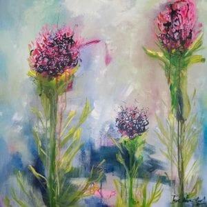 Contemporary Floral Art for sale - Floral Beauties by Artist Belinda Lindhardt