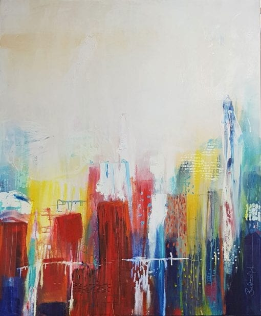 Abstract Cities - Original Painting for sale