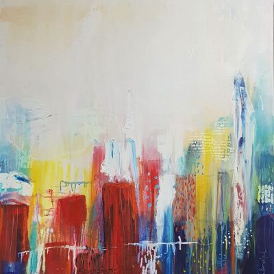 Abstract Cities - Abstract Art by Belinda Lindhardt