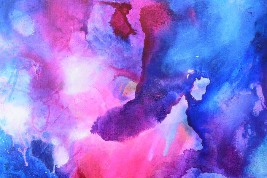 Original Abstract Spiritual Art - For Sale - Cosmotion - Belinda Lindhardt