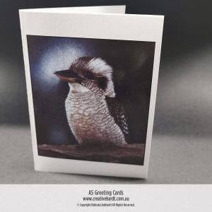 Art Greeting Cards - Kookaburra