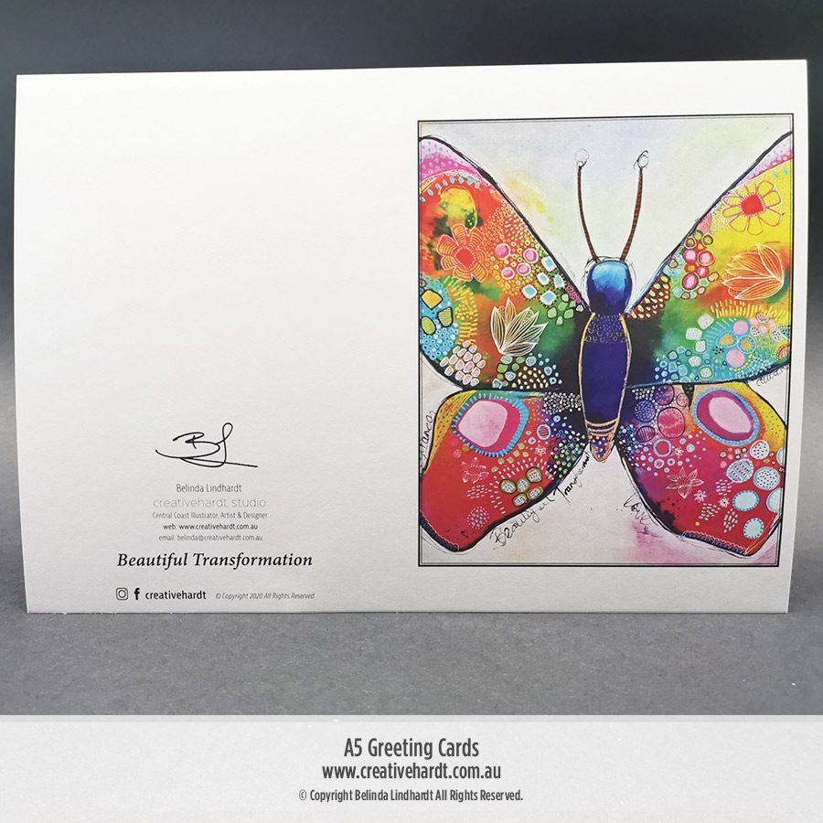 Art Greeting Cards - Butterfly - Beautiful Transformation by Belinda Lindhardt