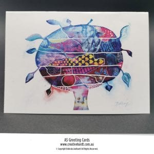 Art Greeting Cards - Brain Tree by Australian Artist Belinda Lindhardt