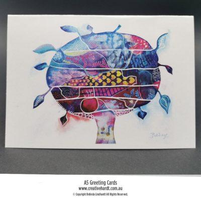 Art Greeting Cards - Brain Tree by Australian Artist Belinda Lindhardt