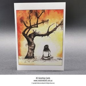 Art Greeting Cards - Contemplation by Australian Artist Belinda Lindhardt