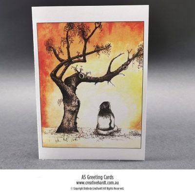 Art Greeting Cards - Contemplation by Australian Artist Belinda Lindhardt