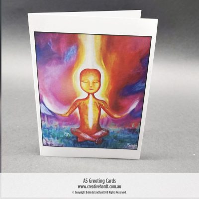 Art Greeting Cards - Enlightened Being by Australian Artist Belinda Lindhardt