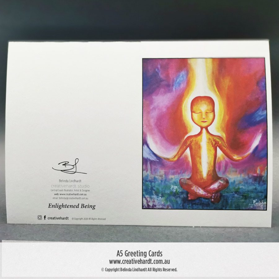 Art Greeting Cards - Enlightened Being by Australian Artist Belinda Lindhardt