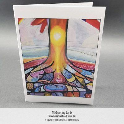 Art Greeting Cards - Groundings by Australian Artist Belinda Lindhardt