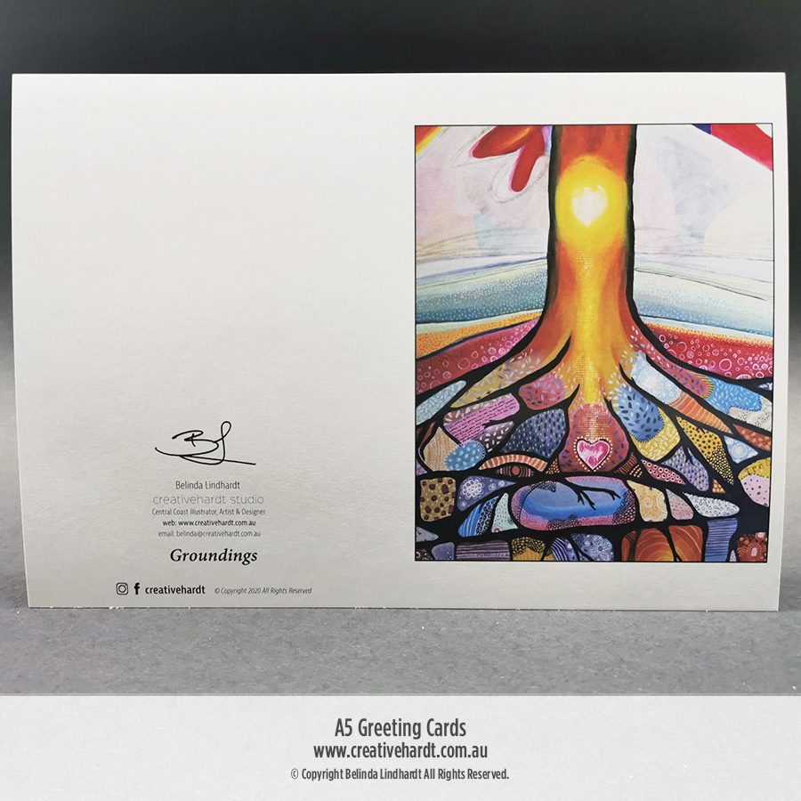 Art Greeting Cards - Groundings by Australian Artist Belinda Lindhardt
