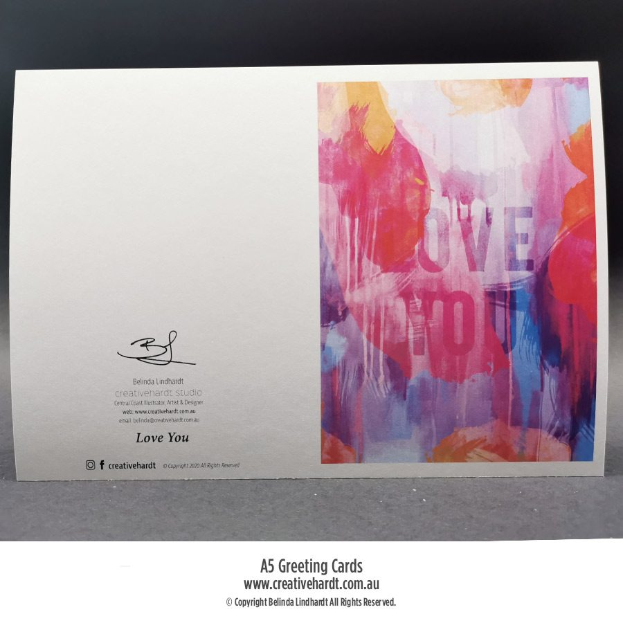 Art Greeting Cards - Love You