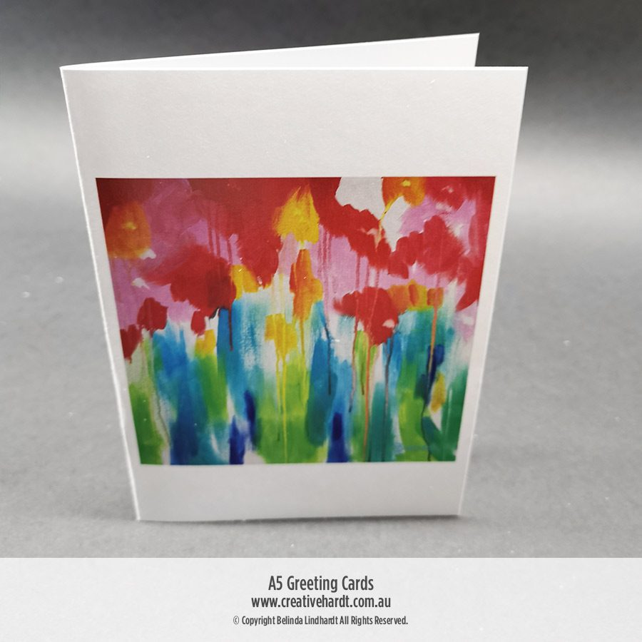 Art Greeting Cards - Summer Blossoms