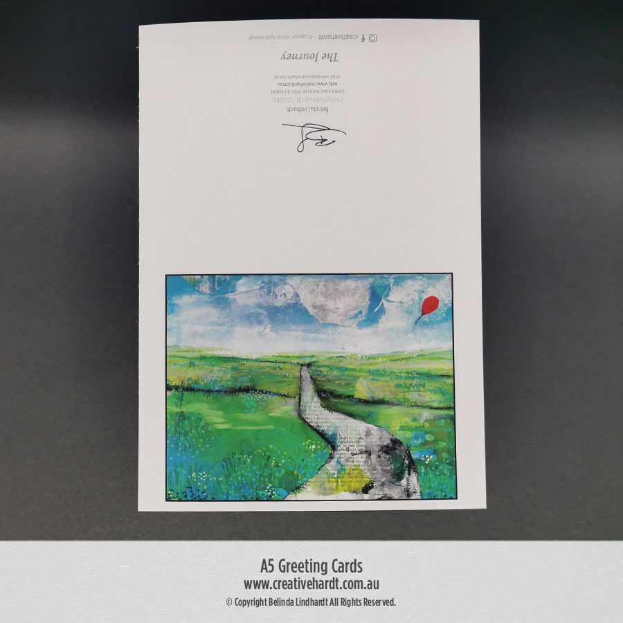 Art Greeting Cards -The Journey by Australian Artist Belinda Lindhardt