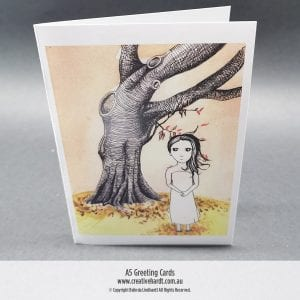 Art Greeting Cards -Tree Girl by Australian Artist Belinda Lindhardt