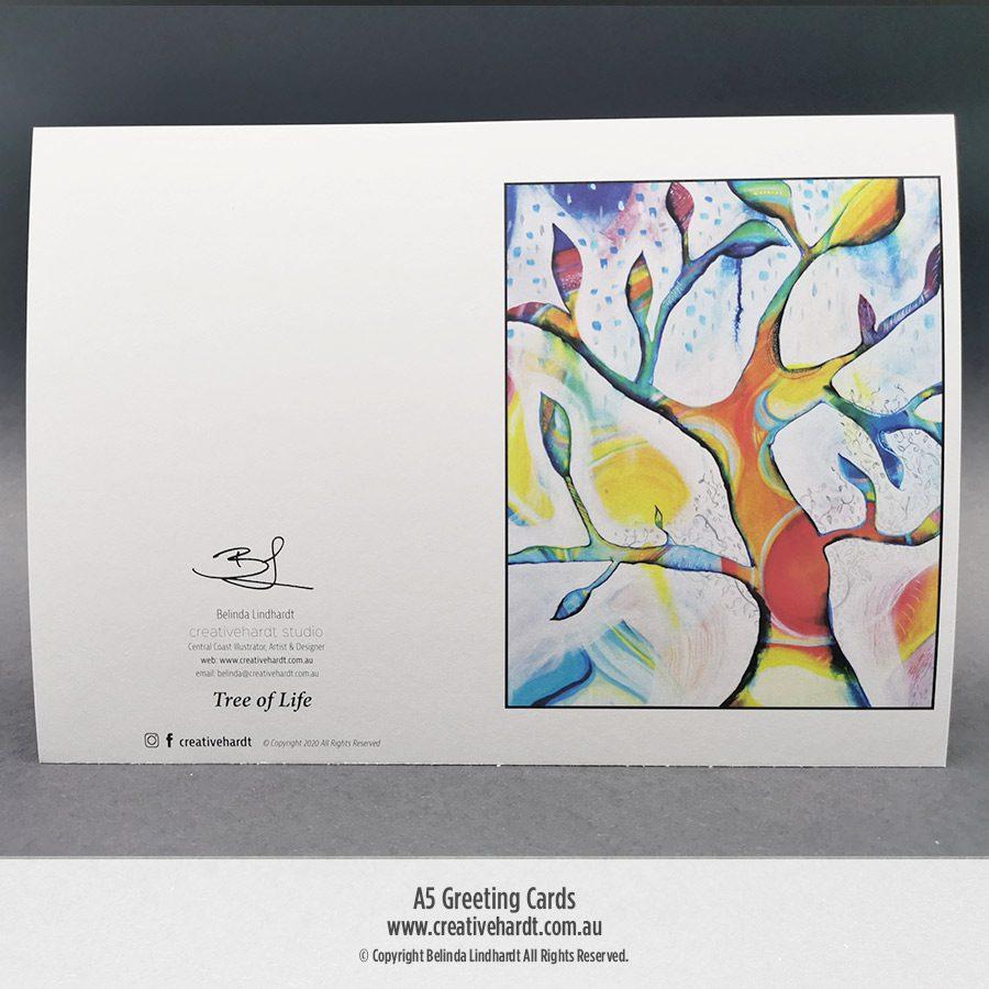 Art Greeting Cards -Tree of Life by Australian Artist Belinda Lindhardt