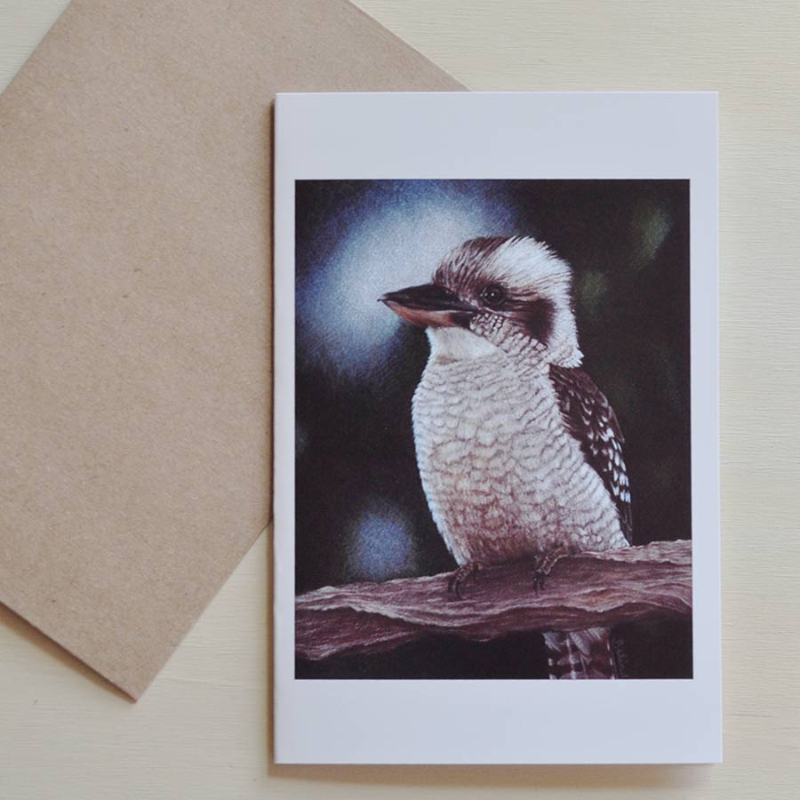 Art Greeting Cards - Kookaburra