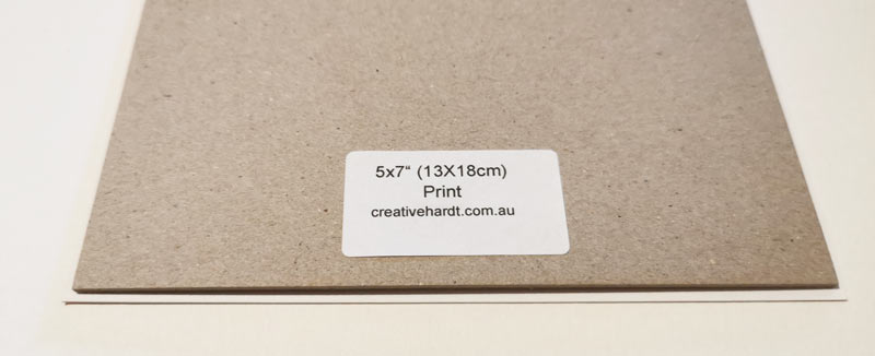 Size of Prints / Backing Board - Art Prints