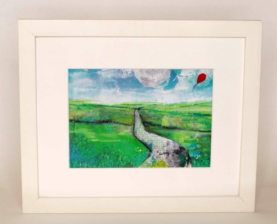 Art Print - The Journey, Contemporary Landscape by Belinda Lindhardt