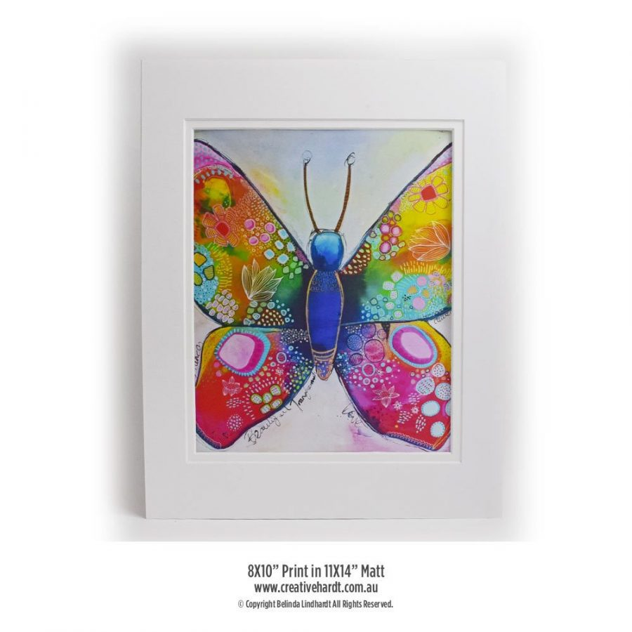 Art Prints for sale - Butterfly -8X10 with Matt