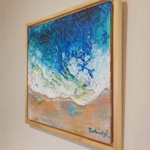 Beach Painting, Ocean Wave by Belinda Lindhardt, Central Coast NSW